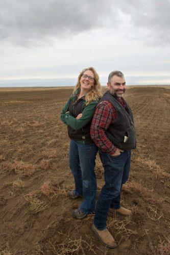 Montana farmers Doug and Anna Crabtree. Photo: Courtesy of Vilicus Farms