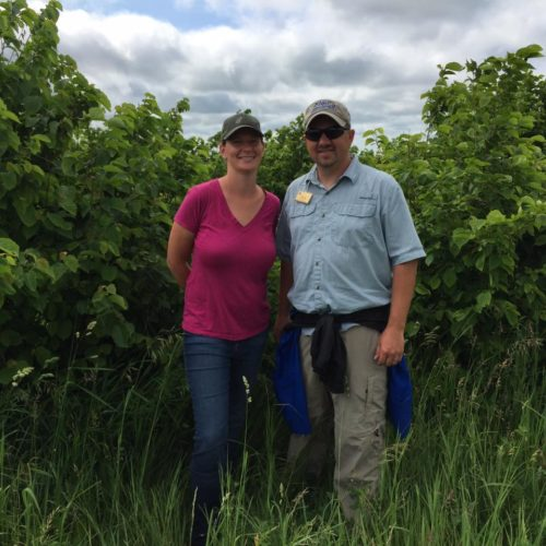 Sara Creech and her local USDA NRCS agent.